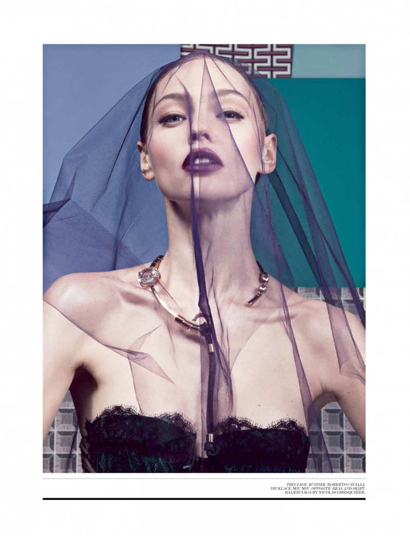 Sasha Pivovarova Seduces for Interview Magazine's April Issue by Craig McDean