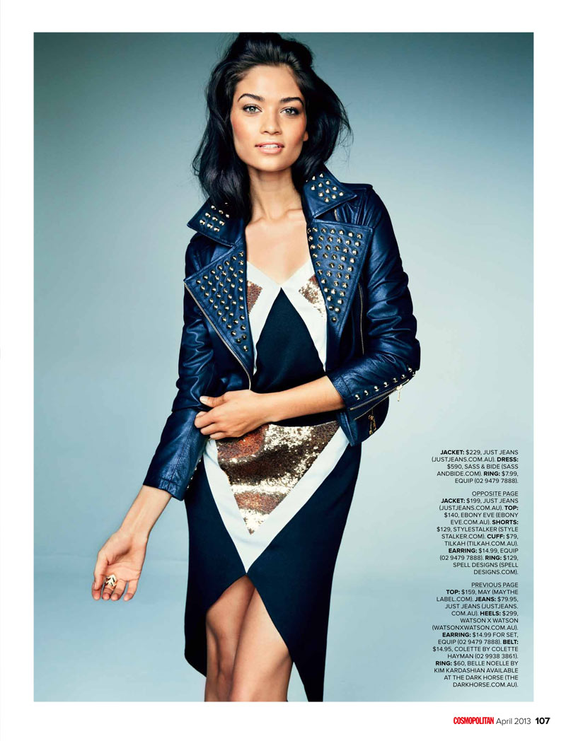 ShaninaCosmoAus3 Shanina Shaik Stars in Cosmopolitan Australias April Issue by Steven Chee