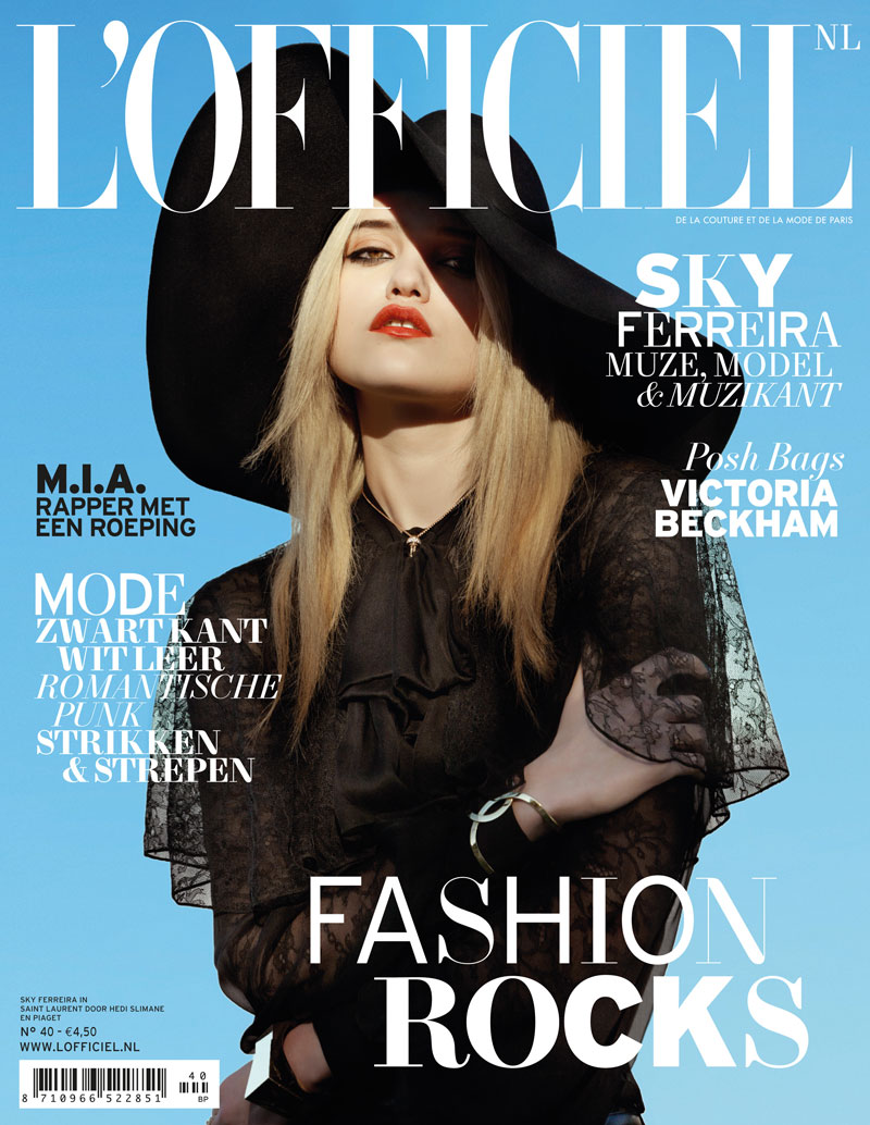 SkyFerreiraLofficielNetherlands10 Sky Ferreira Stars in LOfficiel Netherlands March 2013 Cover Shoot