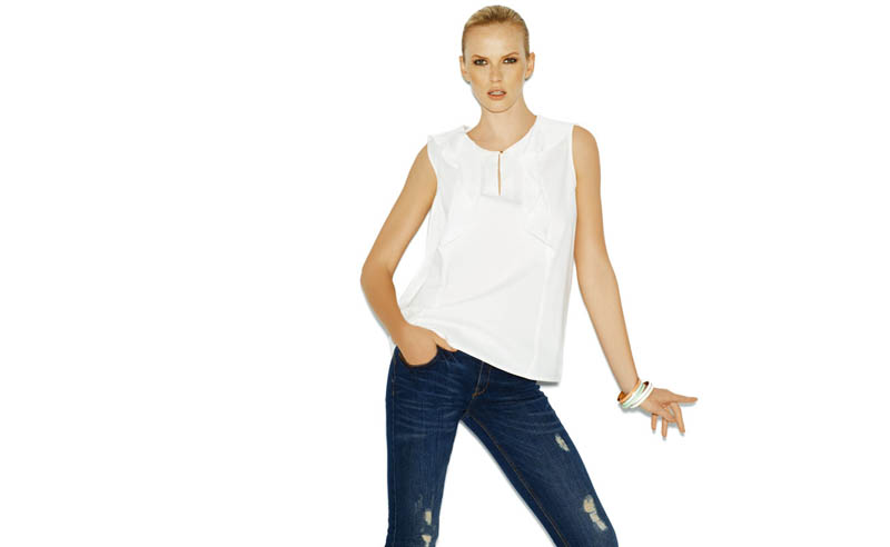 Suiteblanco ss13 march color 07 Anne Vyalitsyna Poses in New SuiteBlanco Spring Bloom 2013 Campaign