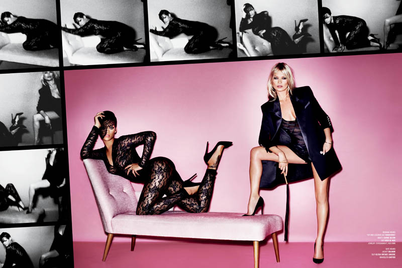 V82 MT COVER STORY TEXT 2 Rihanna and Kate Moss Star in the Cover Shoot of V Magazine #82