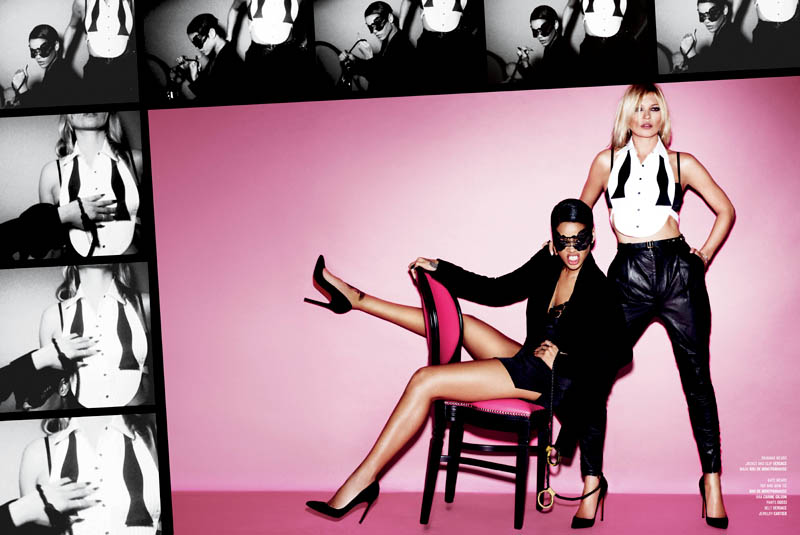 Rihanna and Kate Moss Star in the Cover Shoot of V Magazine #82