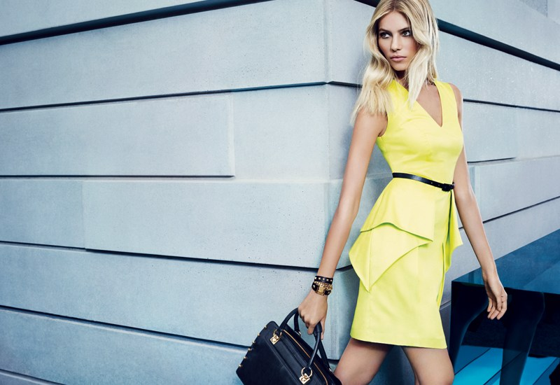 VCSpring2 Vika Falileeva Dons Vibrant Pastels for Vince Camuto's Spring 2013 Campaign