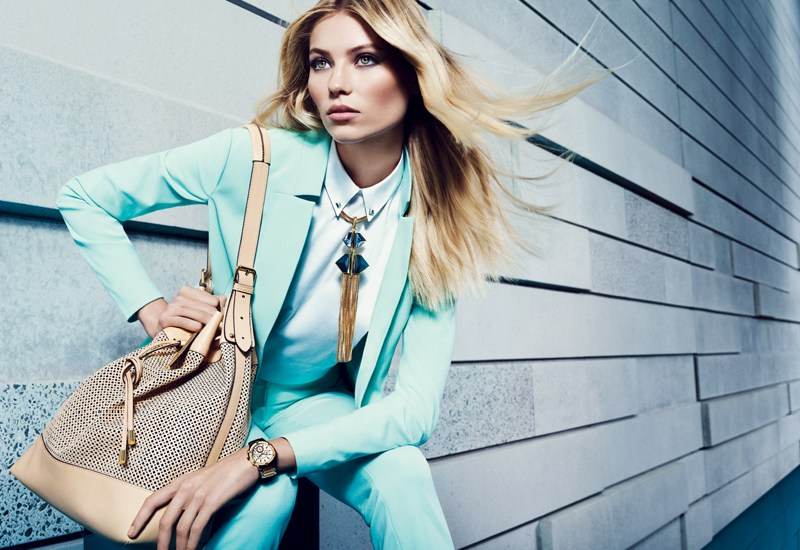 VCSpring4 Vika Falileeva Dons Vibrant Pastels for Vince Camuto's Spring 2013 Campaign