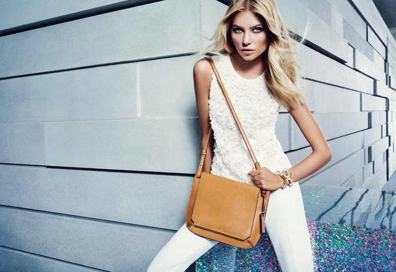 VCSpring5 Vika Falileeva Dons Vibrant Pastels for Vince Camuto's Spring 2013 Campaign