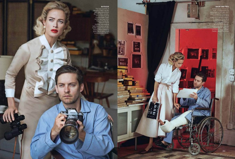 Vogue Apr13 WindowDressing Page 2 800x544 Carolyn Murphy and Tobey Maguire Pose for Peter Lindbergh in Vogue US April 2013