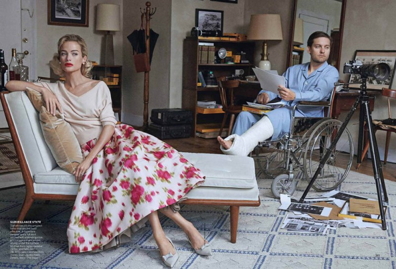 Carolyn Murphy and Tobey Maguire Pose for Peter Lindbergh in Vogue US April 2013