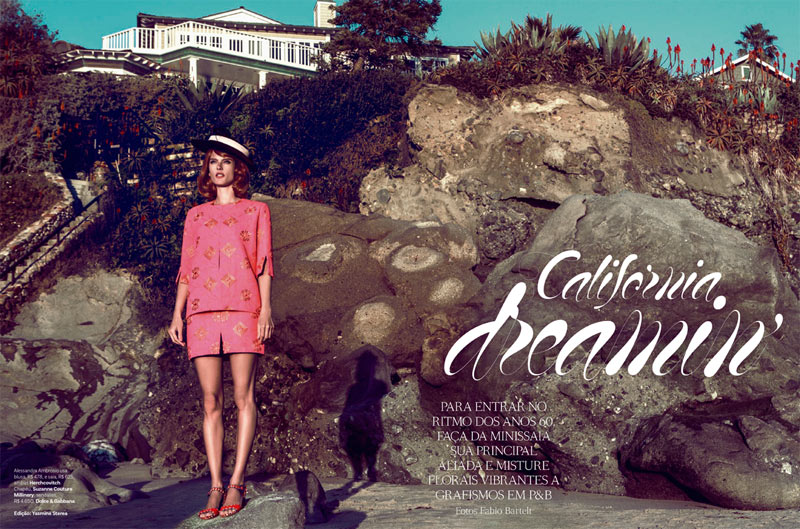 alessandra ambrosio fabio bartelt1 Alessandra Ambrosio is California Dreaming for Vogue Brazils March Cover Story