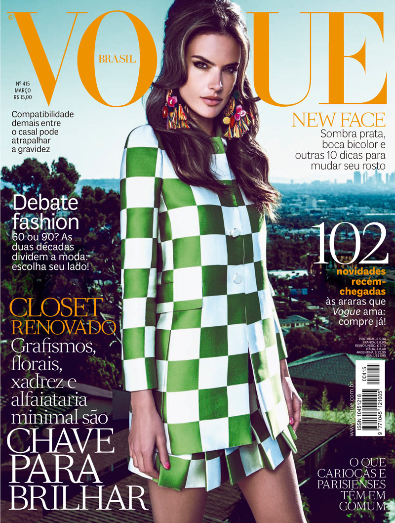 alessandra ambrosio fabio bartelt9 Alessandra Ambrosio is California Dreaming for Vogue Brazils March Cover Story