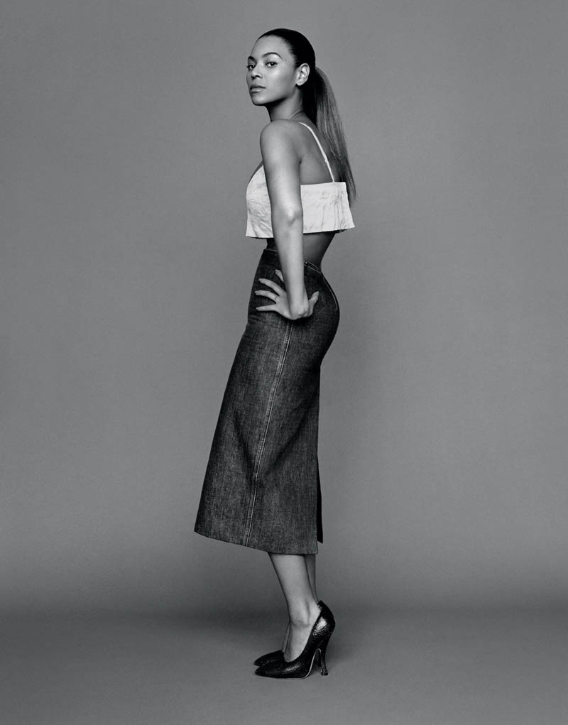 beyonce1 Beyonce Poses for Alasdair McLellan in The Gentlewoman S/S 2013