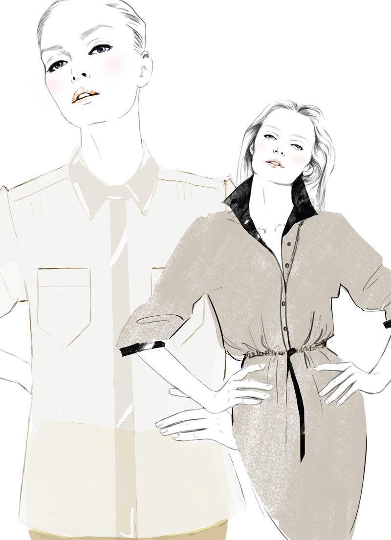 blouse+dress Sketches of Chloé Edition Anniversaire Collection