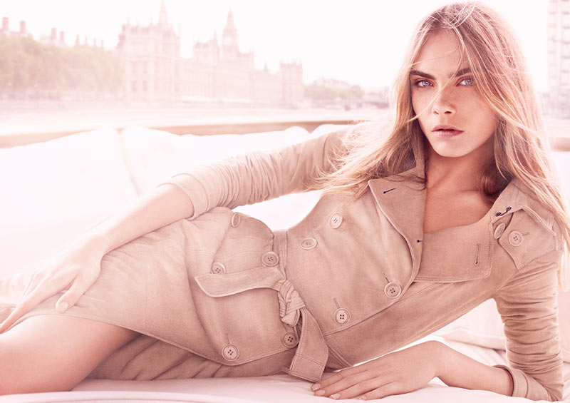 burberry body tender1 Cara Delevingne Fronts Burberry Body Tender Fragrance Campaign