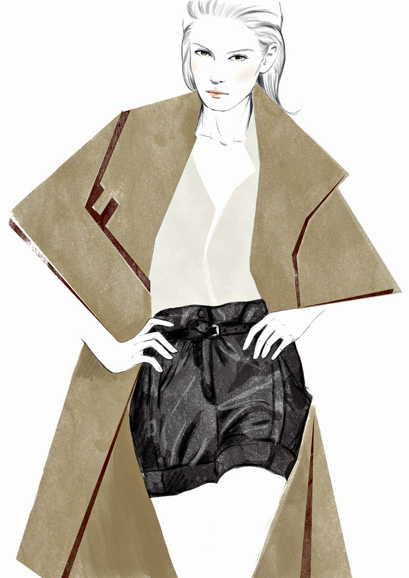 cape shorts Sketches of Chloé Edition Anniversaire Collection