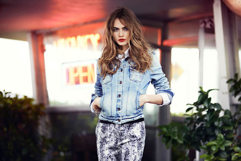 cara delevingne reserved campaign1 Cara Delevingne Heads to Miami for Reserveds Spring 2013 Campaign