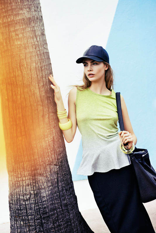 cara delevingne reserved campaign13 Cara Delevingne Heads to Miami for Reserveds Spring 2013 Campaign