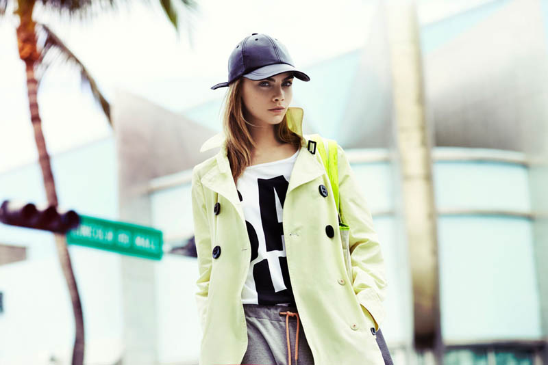 cara delevingne reserved campaign14 Cara Delevingne Heads to Miami for Reserveds Spring 2013 Campaign