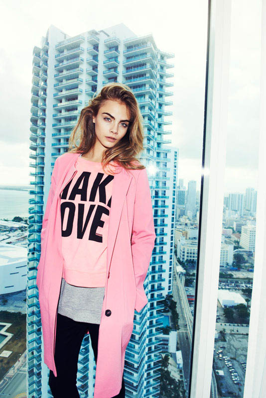 cara delevingne reserved campaign15 Cara Delevingne Heads to Miami for Reserveds Spring 2013 Campaign