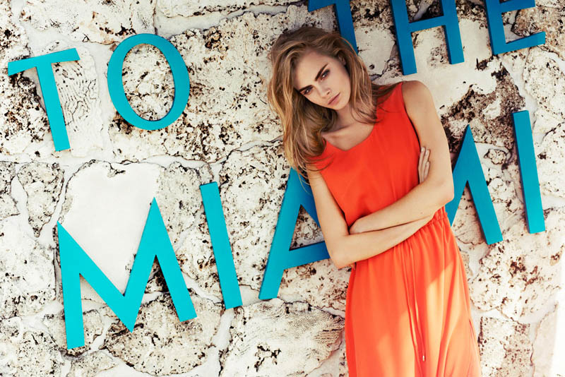 cara delevingne reserved campaign19 Cara Delevingne Heads to Miami for Reserveds Spring 2013 Campaign