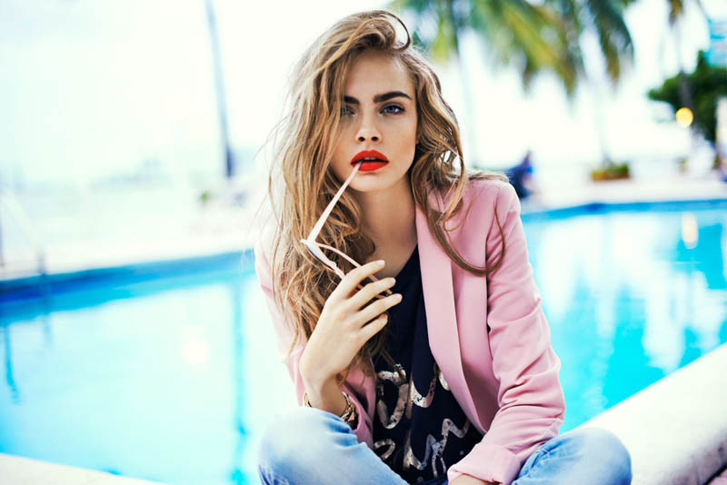 cara delevingne reserved campaign2 Cara Delevingne Heads to Miami for Reserveds Spring 2013 Campaign