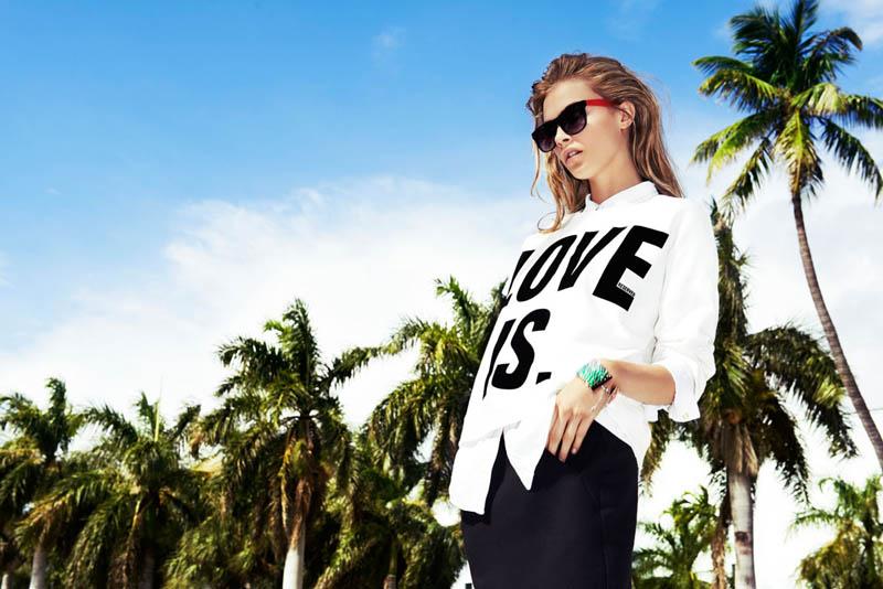 cara delevingne reserved campaign21 Cara Delevingne Heads to Miami for Reserveds Spring 2013 Campaign