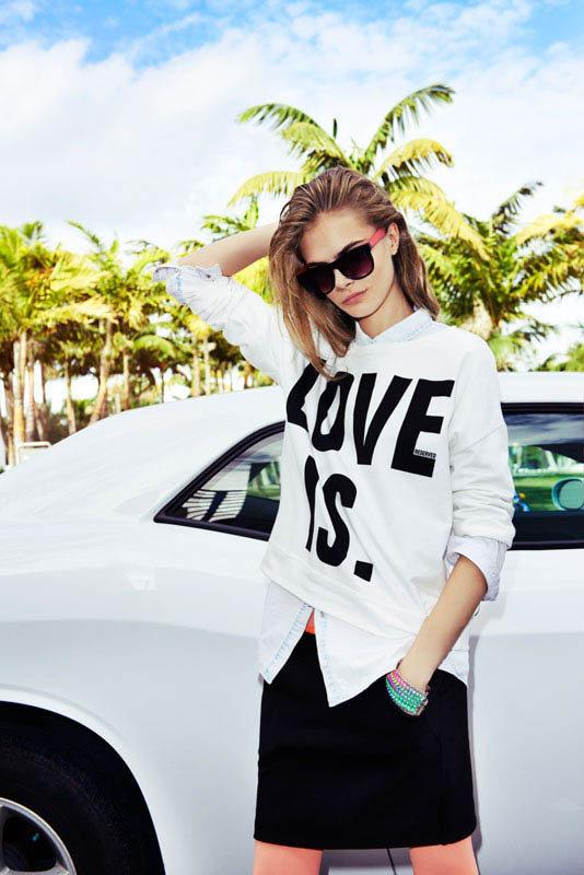 cara delevingne reserved campaign22 Cara Delevingne Heads to Miami for Reserveds Spring 2013 Campaign