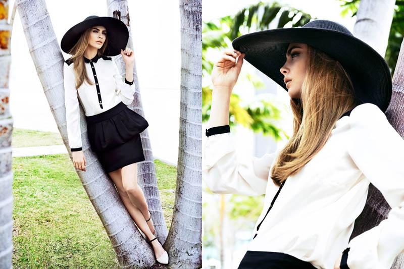 cara delevingne reserved campaign26 Cara Delevingne Heads to Miami for Reserveds Spring 2013 Campaign
