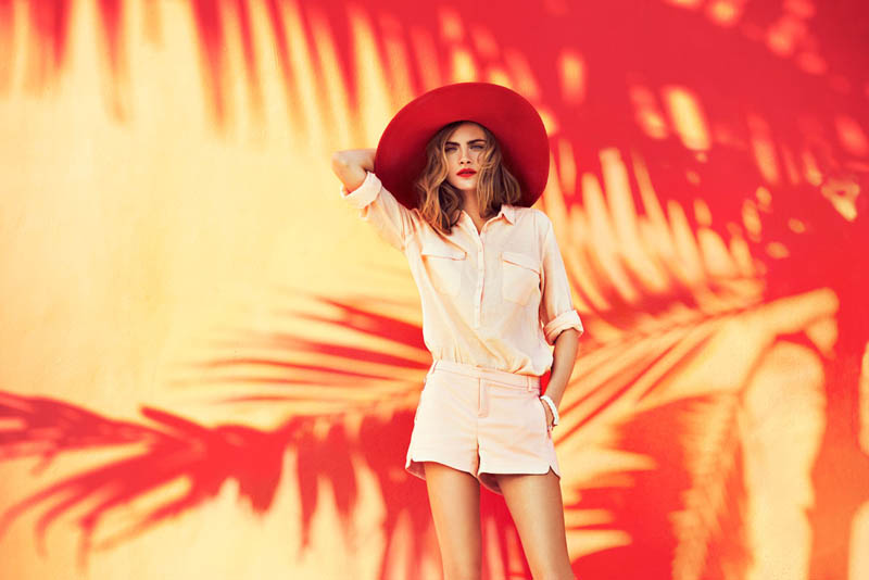 cara delevingne reserved campaign4 Cara Delevingne Heads to Miami for Reserveds Spring 2013 Campaign