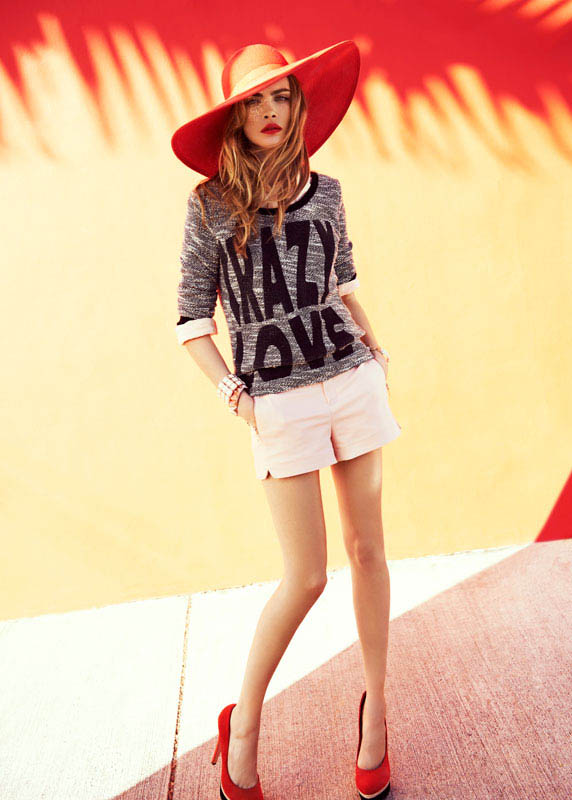 cara delevingne reserved campaign5 Cara Delevingne Heads to Miami for Reserveds Spring 2013 Campaign