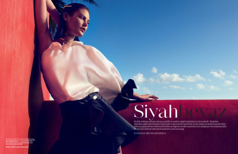 catherine mcneil vogue turkey1 Catherine McNeil Sports Sleek Spring Looks for Vogue Turkey