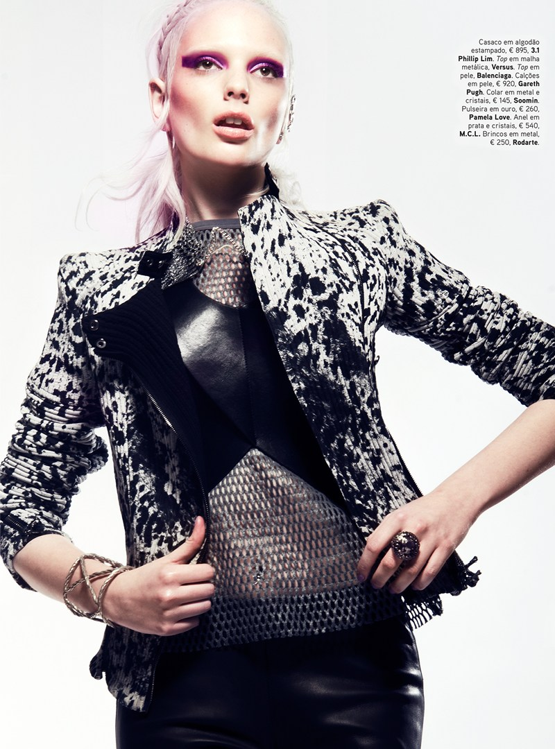 chrystal copland vogue portugal5 Chrystal Copland is Biker Chic for Kevin Sinclair In Vogue Portugal April 2013