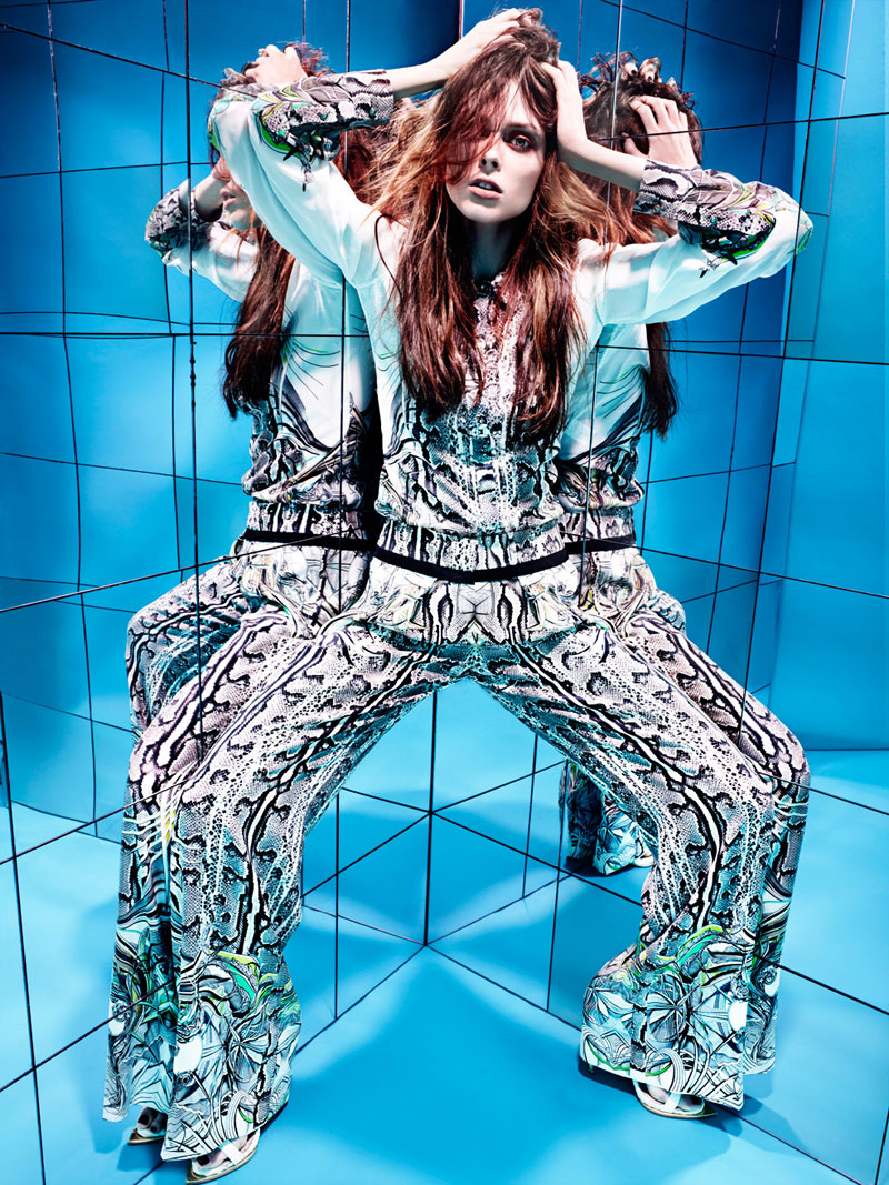coco2 Coco Rocha Rocks Out for HUNGER Magazine in a Cavalli Fashion Film