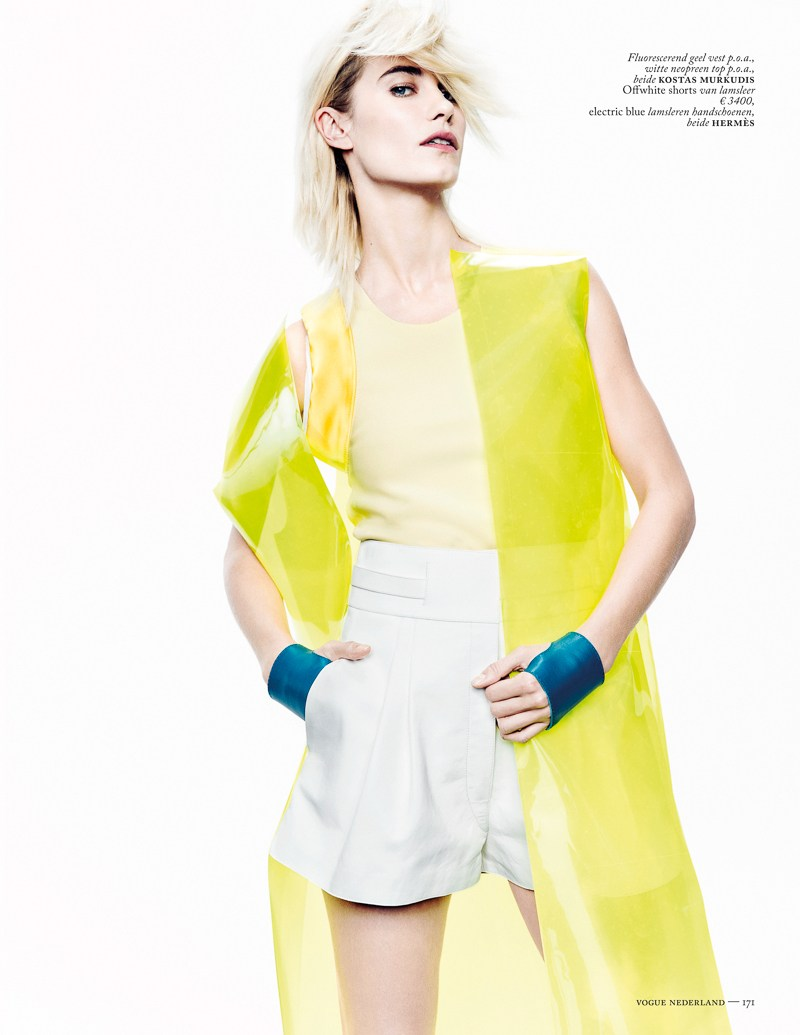 colors vogue nl marc de groot3 Delfine Bafort Dons Vibrant Hues for Vogue Netherlands March Issue by Marc de Groot