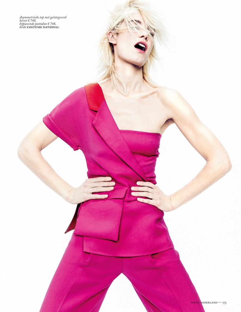 colors vogue nl marc de groot5 Delfine Bafort Dons Vibrant Hues for Vogue Netherlands March Issue by Marc de Groot