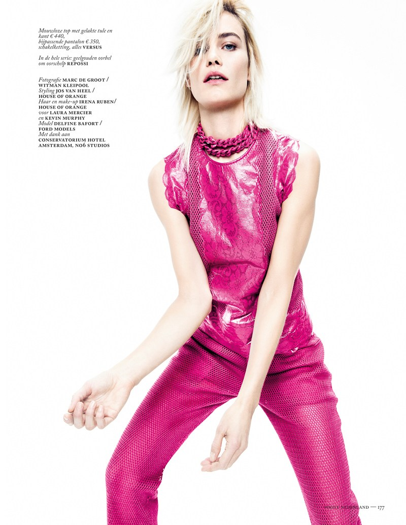 colors vogue nl marc de groot9 Delfine Bafort Dons Vibrant Hues for Vogue Netherlands March Issue by Marc de Groot