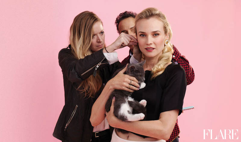 diane kruger flare cover1 Diane Kruger Stars in Flares April 2013 Cover Shoot
