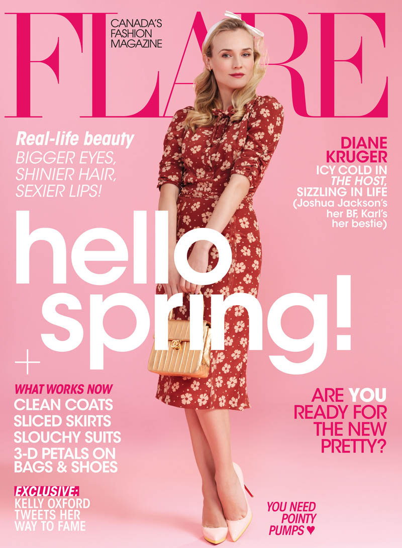 Diane Kruger Stars in Flare's April 2013 Cover Shoot