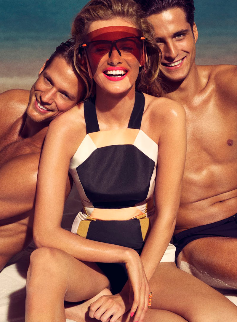 edita tom munro shoot6 Edita Vilkeviciute Sizzles on the Beach for Allures March Issue by Tom Munro