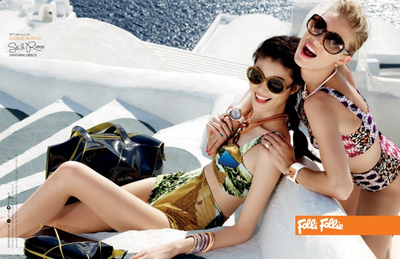 folli campaign2 Sui He and Rianne Haspels Front Folli Follie Spring 2013 Campaign by Chris Craymer