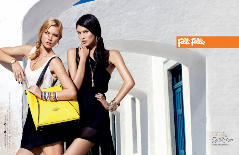 folli campaign4 Sui He and Rianne Haspels Front Folli Follie Spring 2013 Campaign by Chris Craymer