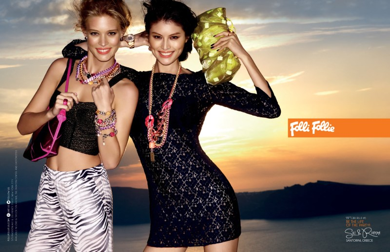 folli campaign5 Sui He and Rianne Haspels Front Folli Follie Spring 2013 Campaign by Chris Craymer
