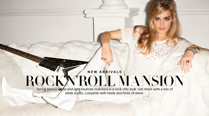 georgia may jagger hm1 Georgia May Jagger Stars in H&Ms Rock'n'Roll Mansion Campaign by Terry Richardson