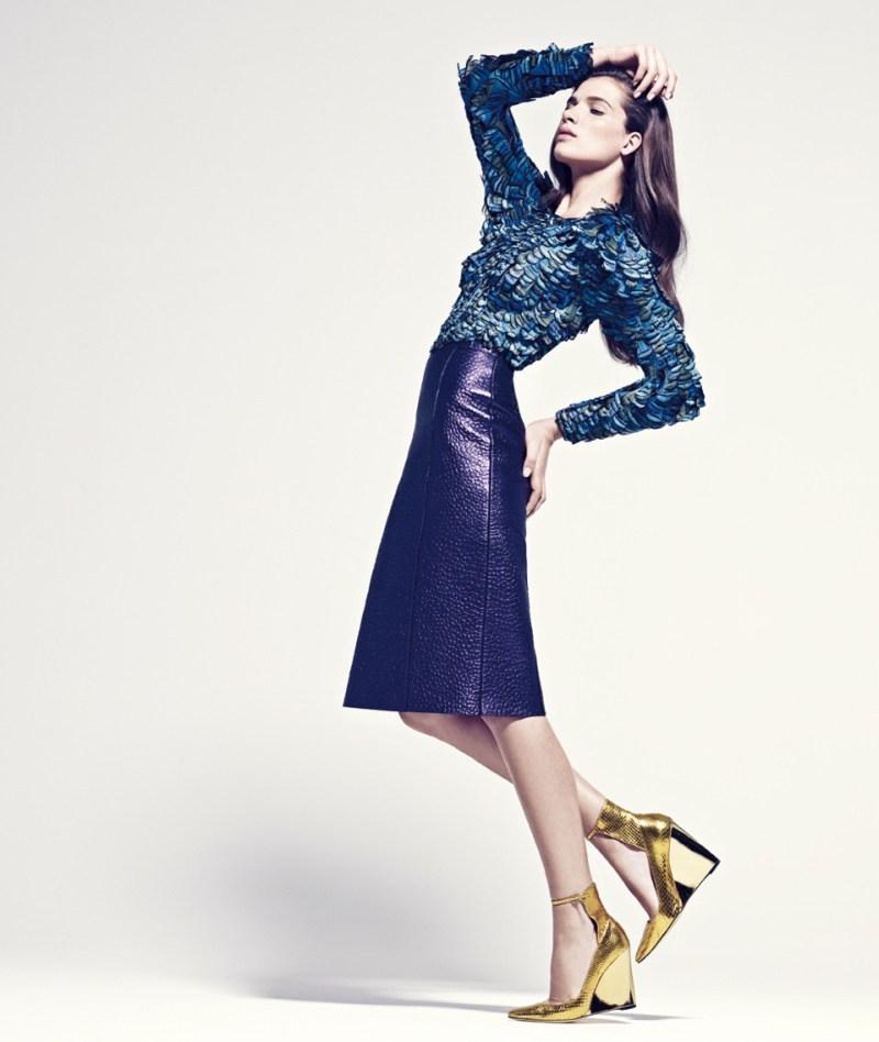 Natalia Oberhanss Models Spring Fashion for Grazia Germany