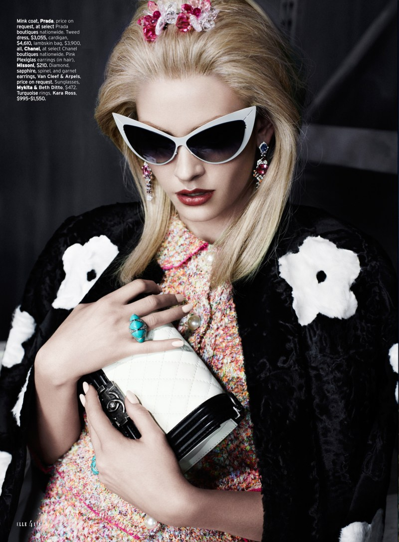 heidi mount elle catherine servel5 Heidi Mount Dons 60s Chic for Elle US March 2013 by Catherine Servel