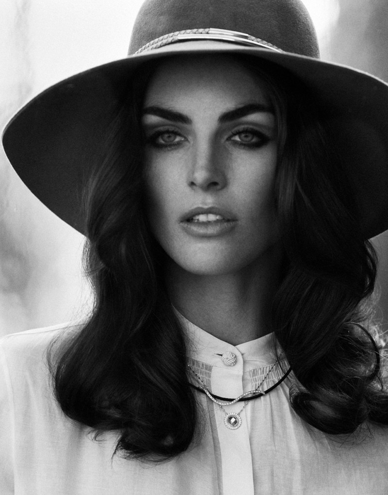 Hilary Rhoda Models Retro Style for DuJour Spring 2013 by Thomas Whiteside