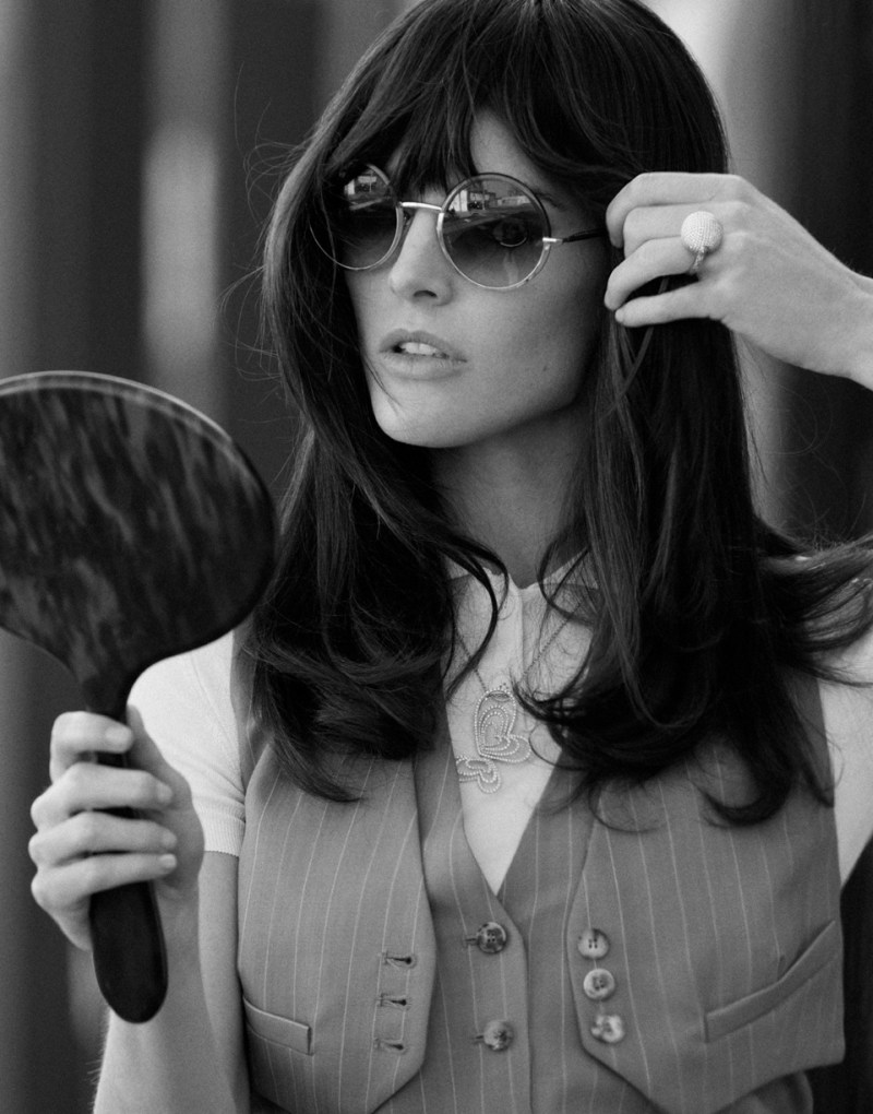hilary rhoda thomas whiteside4 Hilary Rhoda Models Retro Style for DuJour Spring 2013 by Thomas Whiteside