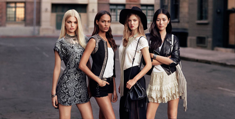 hm icons collection1 Daphne Groeneveld, Liu Wen, Lindsey Wixson and Joan Smalls Tapped for H&M The New Icons Collection