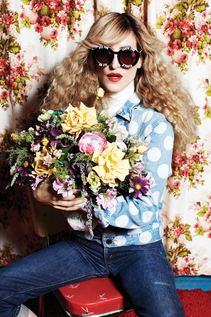 house of holland eyewear4 Ioanna Gika Stars in 70s Inspired, House of Holland Spring 2013 Eyewear Campaign