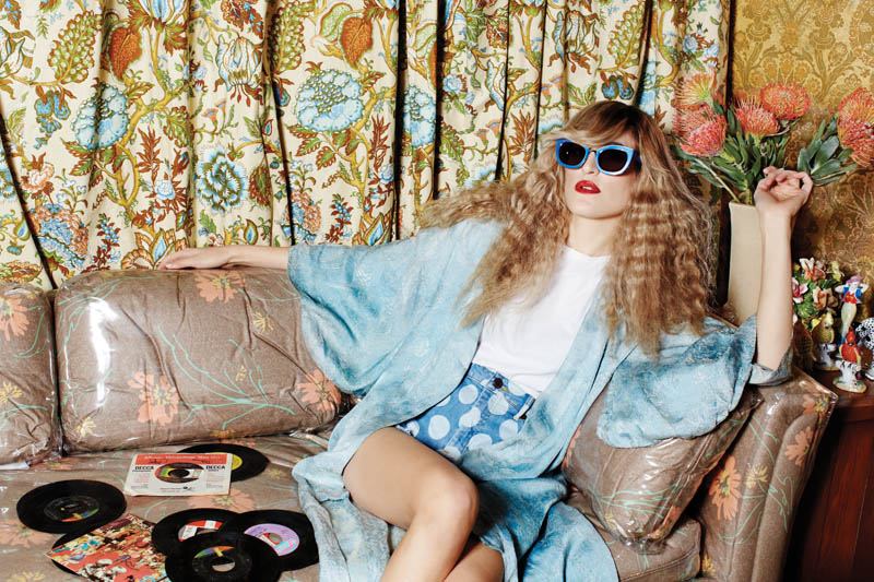 house of holland eyewear6 Ioanna Gika Stars in 70s Inspired, House of Holland Spring 2013 Eyewear Campaign