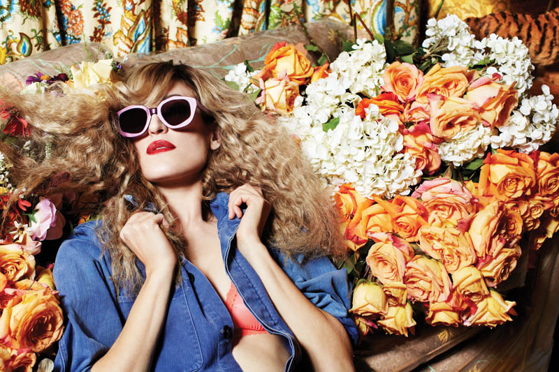 house of holland eyewear7 Ioanna Gika Stars in 70s Inspired, House of Holland Spring 2013 Eyewear Campaign