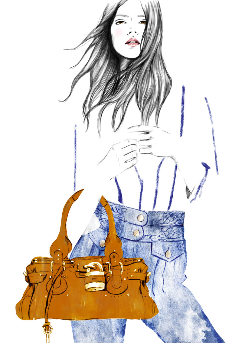 jeans Sketches of Chloé Edition Anniversaire Collection